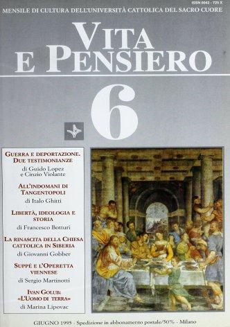 VITA E PENSIERO - 1995 - 6