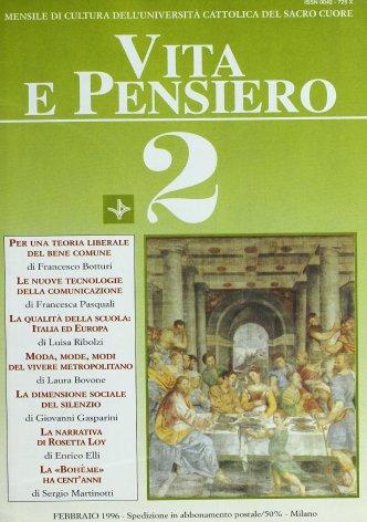 VITA E PENSIERO - 1996 - 2