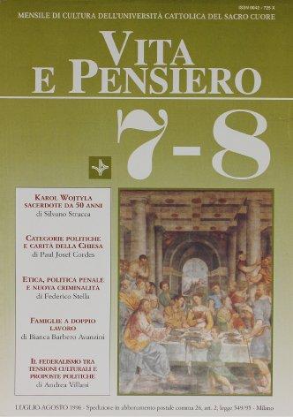 VITA E PENSIERO - 1996 - 7-8