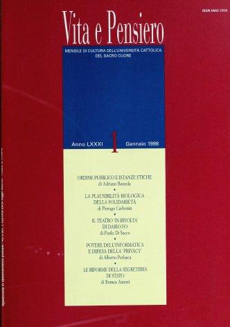 VITA E PENSIERO - 1998 - 1