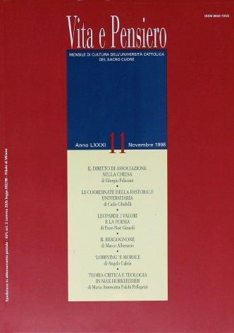 VITA E PENSIERO - 1998 - 11