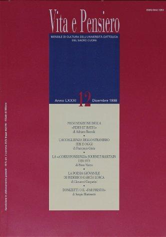 VITA E PENSIERO - 1998 - 12
