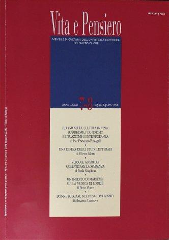 VITA E PENSIERO - 1998 - 7-8