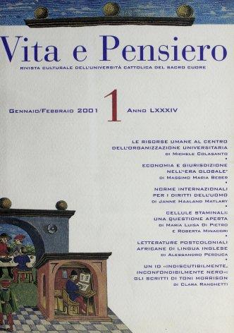 VITA E PENSIERO - 2001 - 1