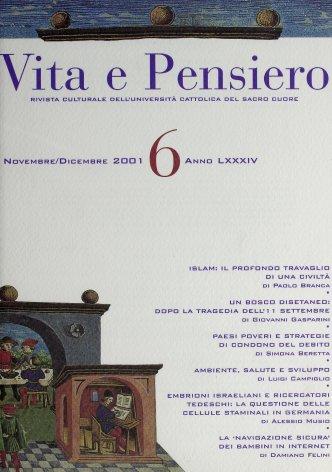 VITA E PENSIERO - 2001 - 6