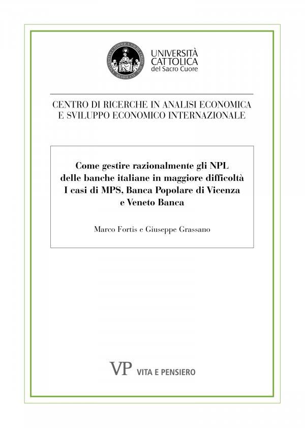 Come gestire razionalmente gli NPL delle banche italiane in maggiore difficoltà